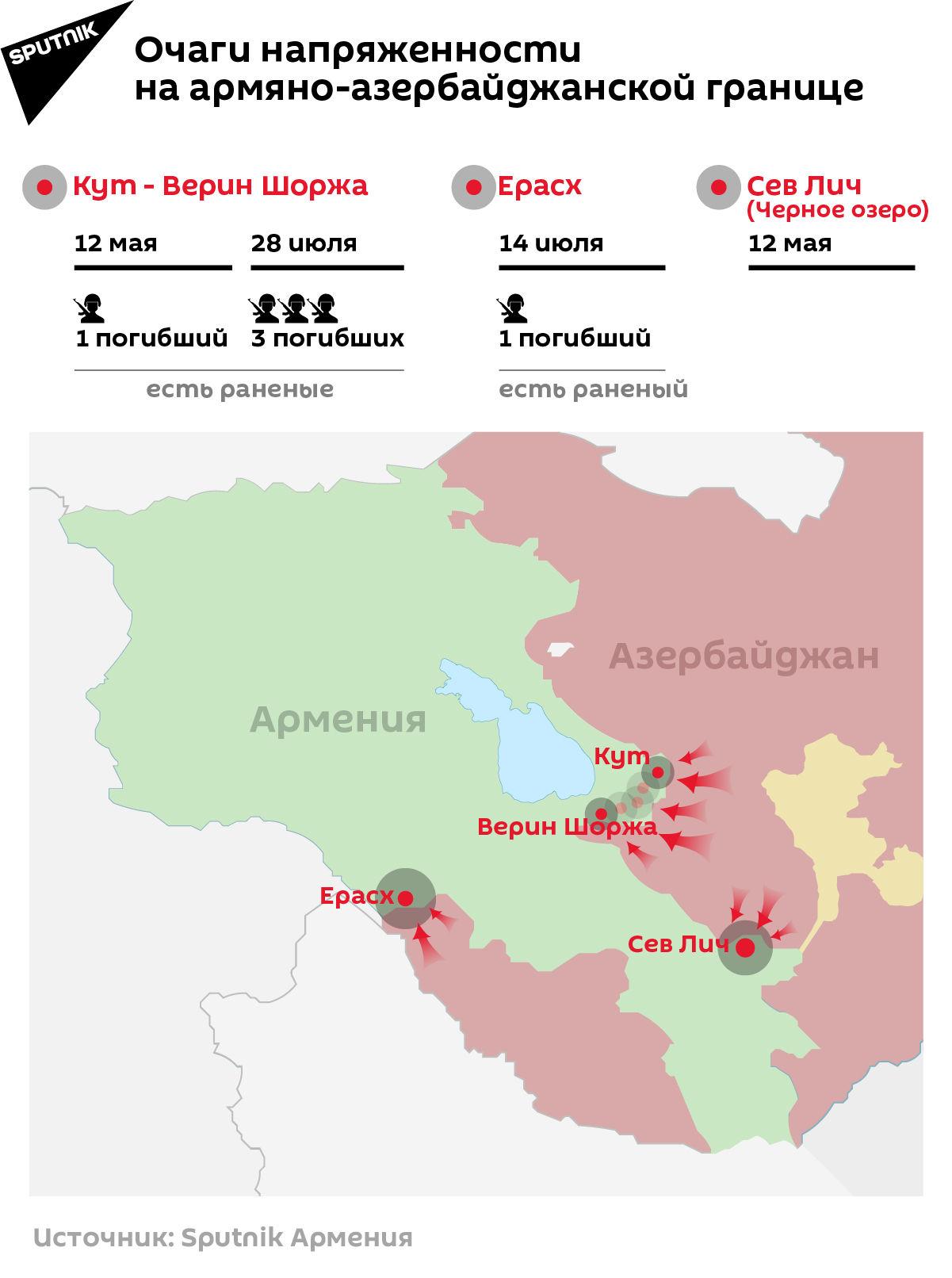 Очаги напряженности на армяно-азербайджанской границе - Sputnik Армения, 1920, 28.07.2021