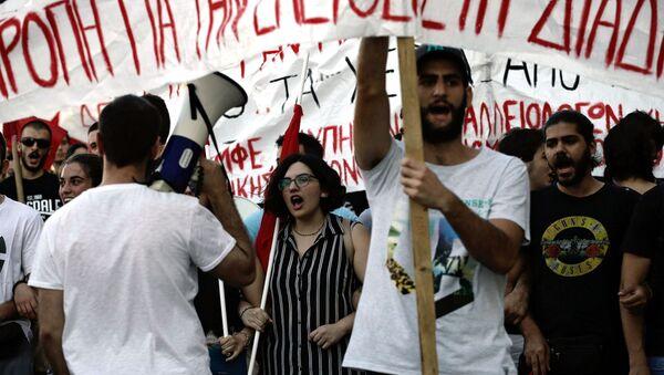 Акция в Афинах против запрета на проведение митингов - Sputnik Армения