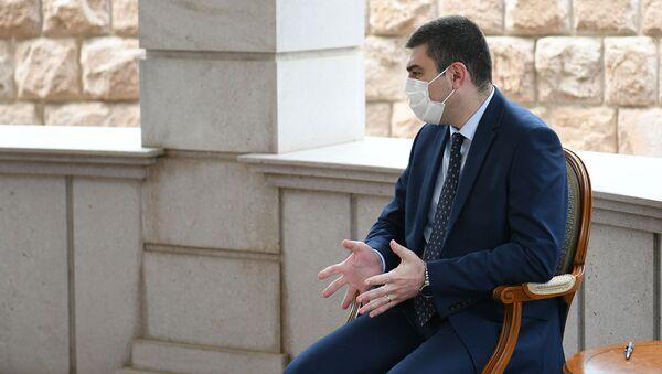 Государственный министр Карабаха Григорий Мартиросян на встрече с президентом Армении (10 июля 2020). Степанакерт - Sputnik Արմենիա