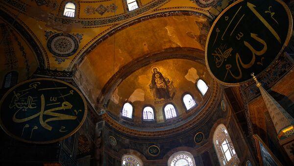 Внутреннее убранство Собора Святой Софии Византийской эпохи, объект Всемирного наследия ЮНЕСКО - Sputnik Արմենիա