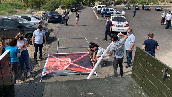 Акция протеста у монастыря Хор Вирап (13 июля 2020). Арарат - Sputnik Արմենիա