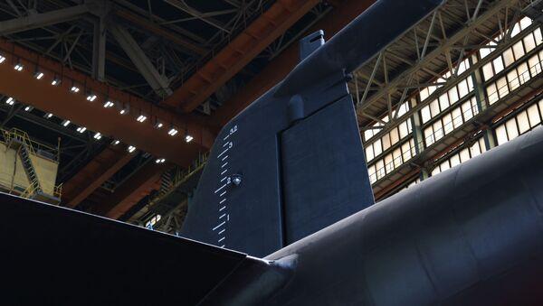 Атомная подводная лодка Белгород во время спуска на воду  - Sputnik Армения