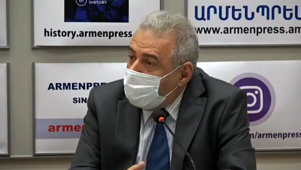 Кадр из онлайн пресс-конференции Вагаршака Арутюняна (16 июля 2020). Еревaн - Sputnik Արմենիա