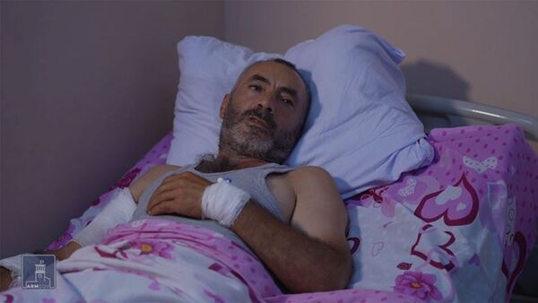 Նախօրեին հակառակորդի կողմից վիրավորում ստացած, Չինարի գյուղի բնակիչ Արամայիս Հովակիմյան - Sputnik Արմենիա