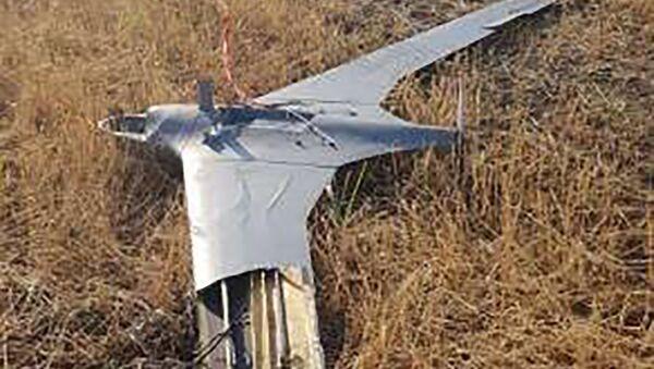 Сбитый подразделениями ПВО Карабаха летательный аппарат противника типа ORBITER-3 (18 июля 2020).  - Sputnik Արմենիա