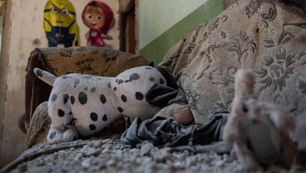 Детская комната в разрушенном после обстрелов доме (18 июля 2020). Тавуш - Sputnik Արմենիա
