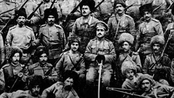 Стоп-кадр с репортажа Скиталец о Гарегине Нжде - армянская добровольческая рота в болгарской армии 1912 года под предводительством Гарегина Нжде - Sputnik Արմենիա