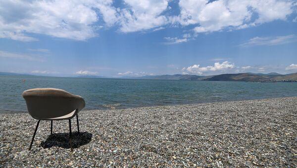 Пляж на озере Севан - Sputnik Արմենիա