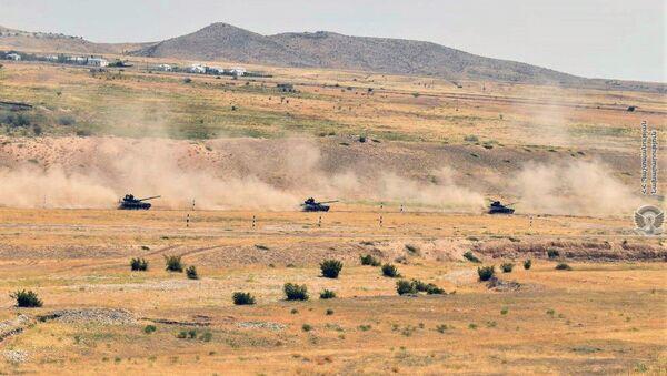 Тренировки армянских танкистов - Sputnik Արմենիա