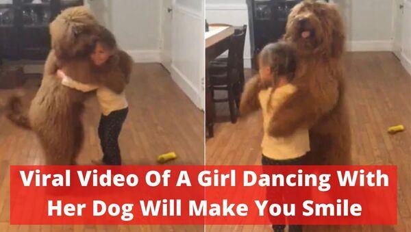 Видео девочки, танцующей со своей собакой, заставит вас улыбнуться - Sputnik Армения