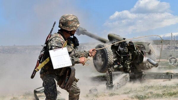 Тренировочные учения армянских военнослужащих - Sputnik Արմենիա