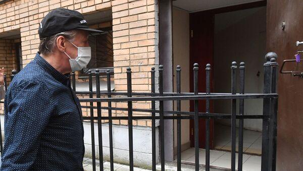 Актер Михаил Ефремов у здания Пресненского суда, где рассматривается дело о ДТП со смертельным исходом (29 июля 2020). Москвa - Sputnik Армения