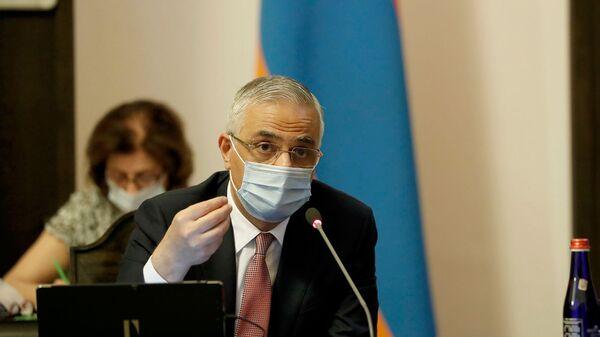 Вице-премьер Мгер Григорян на заседании правительства Армении (30 июля 2020). Еревaн - Sputnik Արմենիա