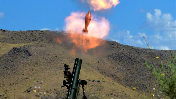 Снаряды для миномета армянского производства на испытаниях - Sputnik Армения