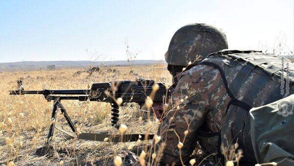 Учебные тренировки армянских военнослужащих - Sputnik Армения