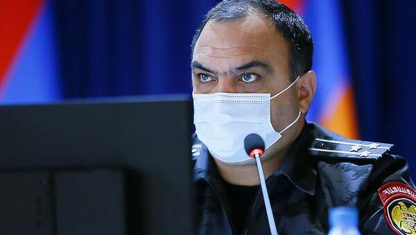 Начальник полиции Ваге Казарян на заседании по итогам первого полугодия 2020 года (31 июля 2020). Еревaн - Sputnik Արմենիա