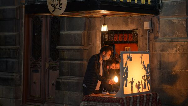 Театр теней Театра мыслей в Гюмри - Sputnik Արմենիա