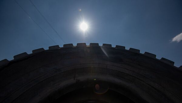Завод по переработке использованных покрышек (31 июля 2020). Абовян - Sputnik Արմենիա