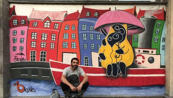 Стрит-арт-художник Арег Балаян: о смысле своих рисунков и граффити на войне - Sputnik Армения