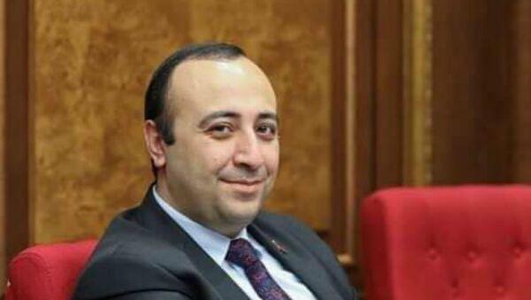 Член фракции НС Светлая Армения, заместитель председателя Постоянной комиссии по европейской интеграции Карен Симонян - Sputnik Արմենիա