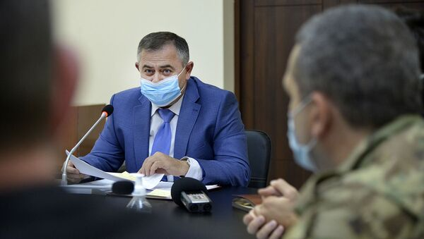 Председатель военно-промышленного комитета Министерства высоких технологий РА Артак Давтян принял руководителей компаний, производящих армянские беспилотные летательные аппараты (БПЛА). - Sputnik Армения