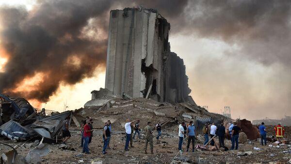 Разрушения на месте взрыва в Бейруте - Sputnik Армения