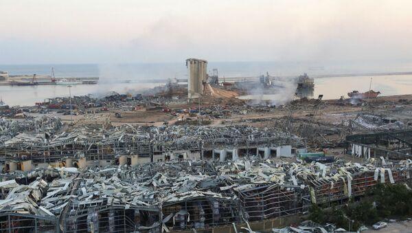 Общий вид порта Бейрута, разрушенного взрывом (5 августа). - Sputnik Արմենիա