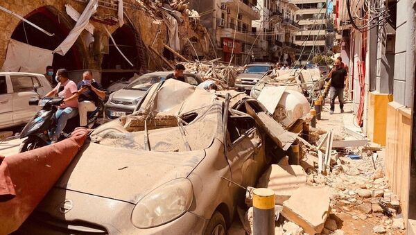 Последствия взрыва в Бейруте (5 августа 2020). - Sputnik Արմենիա