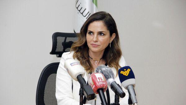 Министр информации Ливана Манал Абдель Самад (27 июля 2020). Бейрут - Sputnik Армения