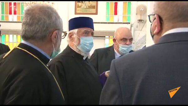 Արամ Ա կաթողիկոսը շրջել է Բեյրութի հայկական եկեղեցիներով - Sputnik Армения