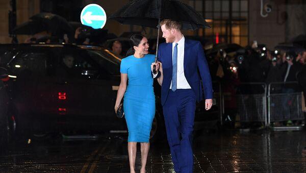 Принц Гарри, герцог Сассексский и Меган, герцогиня Сассексская на церемонии награждения Фонда Endeavour (5 марта 2020). Лондон - Sputnik Армения