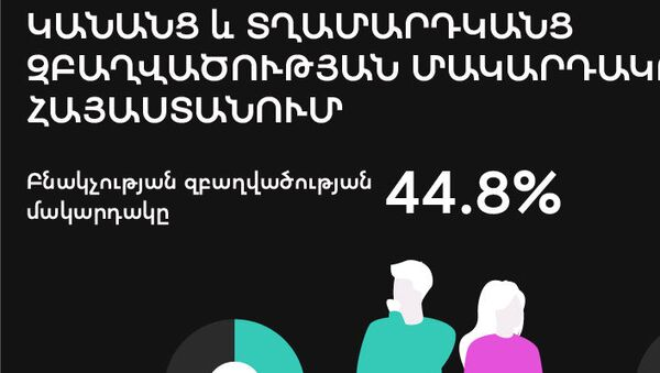 Կանանց և տղամարդկանց զբաղվածության մակարդակը Հայաստանում - Sputnik Արմենիա