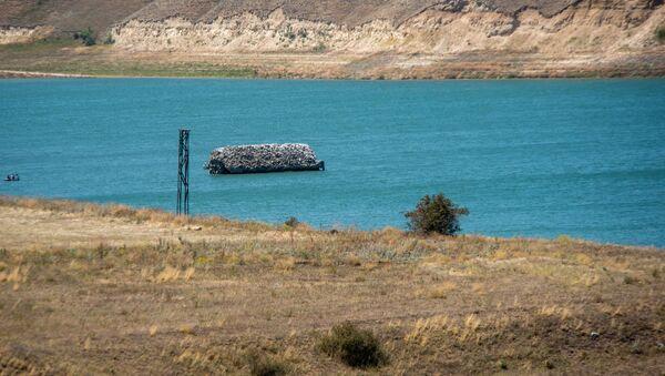 Церковь Сурб Рипсиме в водоеме у села Толорс, Сюник - Sputnik Армения