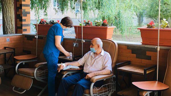 Новый павильон химиотерапии в Национальном центре онкологии имени Фанарджяна (17 августа 2020). Еревaн - Sputnik Армения