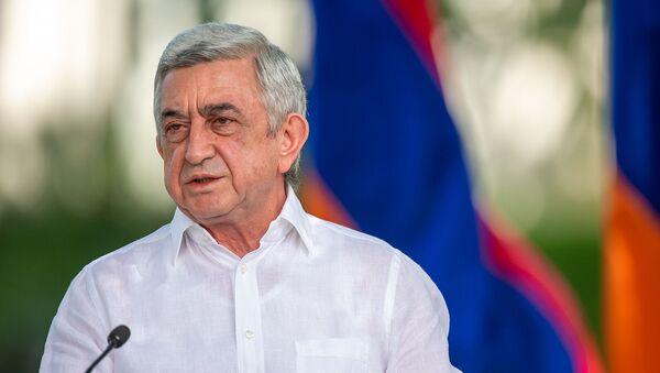 Пресс-конференция третьего президента РА Сержа Саргсяна на тему апрельской войны 2016 года (19 августа 2020). Еревaн - Sputnik Армения