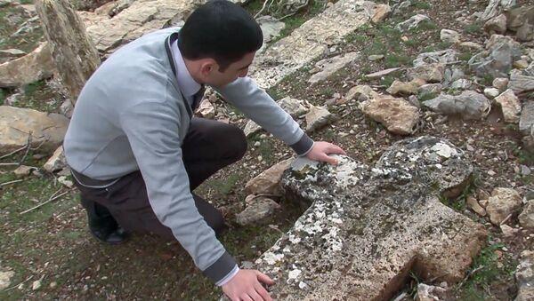 Наири Охикян на кладбище села Рут - Sputnik Армения