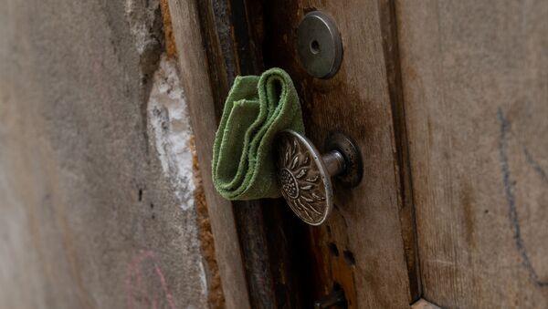 Дверная ручка в доме Акопджанянов в деревне Хаштарак (21 августа 2020). Тавуш - Sputnik Արմենիա