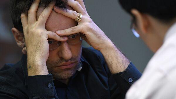 Гроссмейстер Левон Аронян на турнире по быстрым шахматам (рапид) чемпионата мира по рапиду и блицу 2019 (28 декабря 2019). Москвa - Sputnik Արմենիա