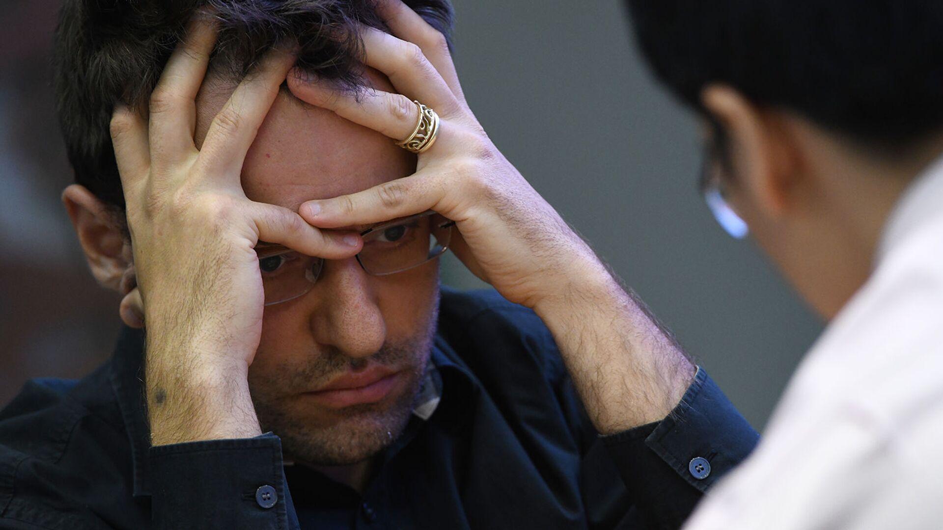 Гроссмейстер Левон Аронян на турнире по быстрым шахматам (рапид) чемпионата мира по рапиду и блицу 2019 (28 декабря 2019). Москвa - Sputnik Армения, 1920, 09.02.2021