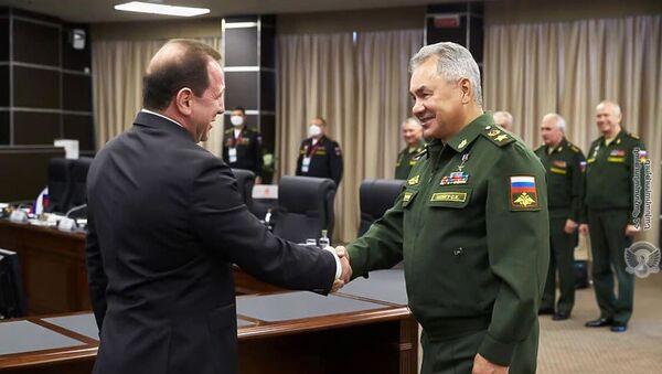 Встреча министров обороны Армении и России Давида Тонояна и Сергея Шойгу (23 августа 2020). Москва - Sputnik Армения