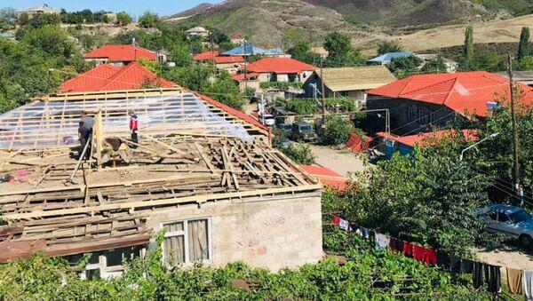 Ремонтные работы в приграничном селе Айгепар (25 августа 2020). - Sputnik Արմենիա