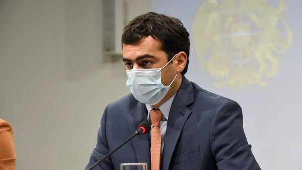Пресс-конференция министра высокотехнологической промышленности Акоба Аршакяна (26 августа 2020). Еревaн - Sputnik Армения