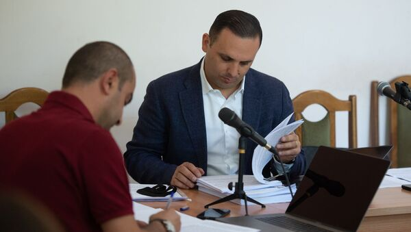 Адвокат Ерем Саркисян на судебном заседании по делу Гагика Хачатряна (26 августа 2020). Еревaн - Sputnik Արմենիա
