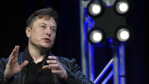 Генеральный директор Tesla и SpaceX Илон Маск на конференции и выставке SATELLITE (9 марта 2020). Вашингтон - Sputnik Армения