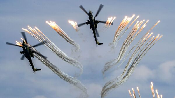 Ударные вертолеты Ми-28Н Ночной охотник на форуме Армия-2020 - Sputnik Армения