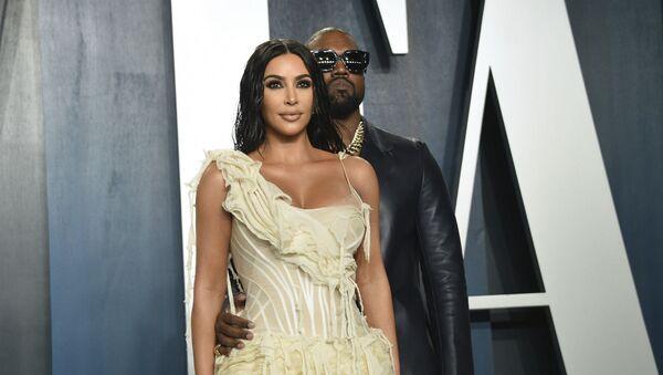 Ким Кардашьян и Канье Уэст на Vanity Fair Oscar Party (9 февраля 2020). Беверли-Хиллз, Калифорния - Sputnik Армения