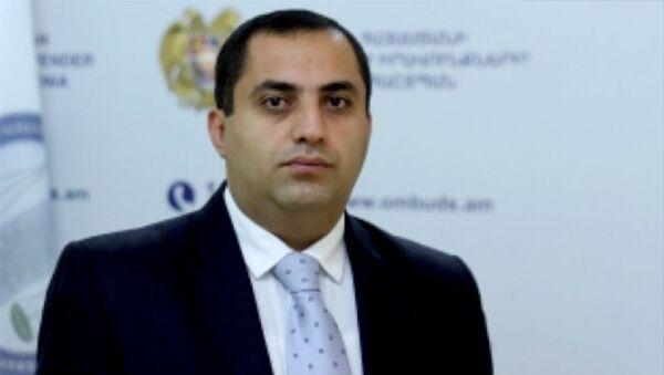 Начальник управления уголовно-правовой защиты в аппарате омбудсмена РА Арам Минасян - Sputnik Արմենիա