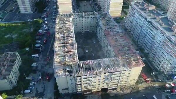 Последствия пожара в многоэтажном доме в Краснодаре - Sputnik Արմենիա