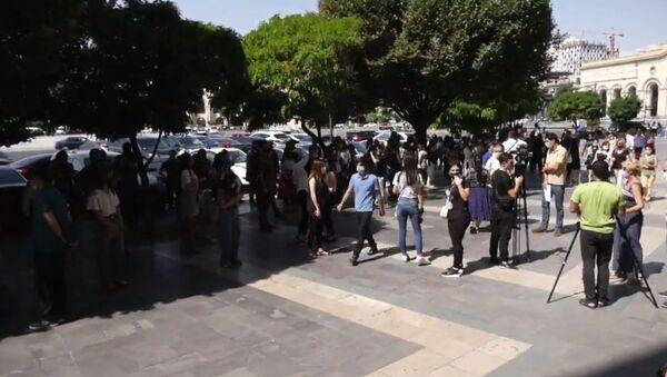 Акция протеста студентов - Sputnik Армения