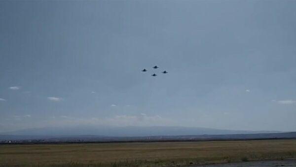 Առաջին անգամ մեր չորս «ՍՈւ-30СМ»-ները միասին դուրս են եկել հերթապահության։) - Sputnik Армения